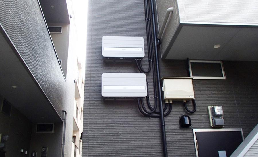 N様アパート 福岡県福岡市 Qセルズ太陽光発電設備工事